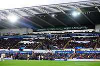 Swansea Building Society branding during the Sky Bet Championship match between Swansea City and Millwall at the Liberty Stadium in Swansea, Wales, UK. Saturday 23rd November 2019