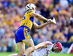 Aron Shanagher of Clare in action against James Skehill of Galway during their All-Ireland semi-final replay at Semple Stadium,Thurles. Photograph by John Kelly.