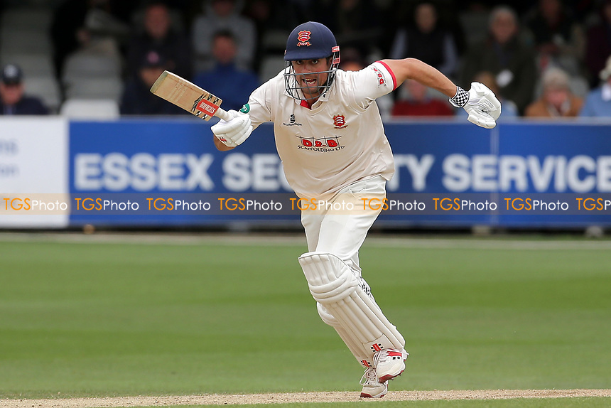 Alastair Cook adds to the Essex total during Essex CCC vs Kent CCC, Specsavers County Championship Division 1 Cricket at The Cloudfm County Ground on 29th May 2019