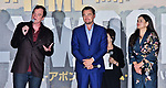 "(L-R) Director Quentin Tarantino, actor Leonardo DiCaprio and Producer Shannon McIntosh attend the Japan premiere for ""Once upon a time in Hollywood"" at the Tokyo Midtown Hibiya in Tokyo, Japan on August 26, 2019. (Photo by AFLO)"