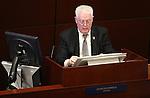 Nevada Assembly Speaker John Hambrick, R-Las Vegas, works on the Assembly floor at the Legislative Building in Carson City, Nev., on Friday, April 3, 2015. <br /> Photo by Cathleen Allison