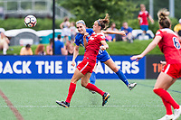 Boston, MA - Saturday July 01, 2017: Megan Oyster and Havana Solaun during a regular season National Women's Soccer League (NWSL) match between the Boston Breakers and the Washington Spirit at Jordan Field.