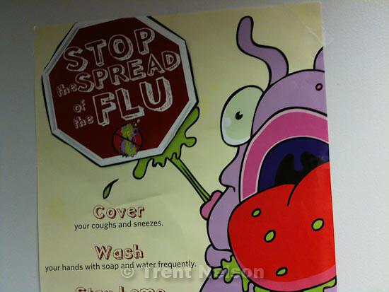 . Friday, October 30 2009.weber state. stop spread flu sign