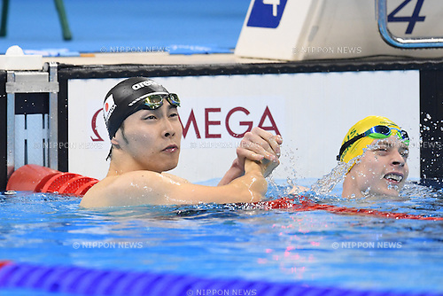 Takuro Yamada (JPN), <br /> SEPTEMBER 12, 2016 - Swimming : <br /> Men's 100m Freestyle S9 Heat <br /> at Olympic Aquatics Stadium<br /> during the Rio 2016 Paralympic Games in Rio de Janeiro, Brazil.<br /> (Photo by AFLO SPORT)