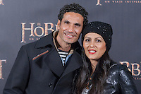 Oscar Higares at The Hobbit premiere in Madrid