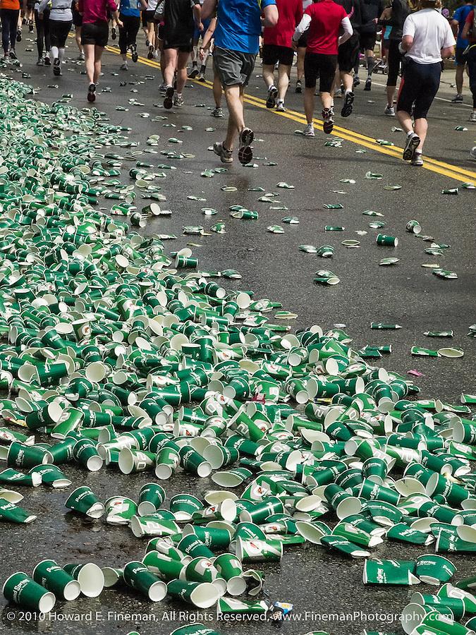 In The Runners' Wake...  Heartbreak Hill, Newton MA 2010