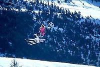 Women skiers going up Chair 3, Alyeska Ski Resort, Girdwood, Alaska