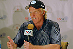 30 July 2008:  Greg Norman interview following Wednesday's practice round prior to  the 2008 US Senior Open Championship at The Broadmoor, Colorado Springs, CO.