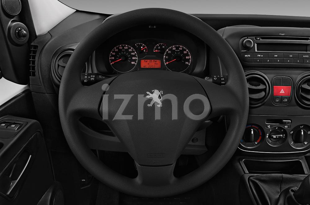 Car pictures of steering wheel view of a 2017 Peugeot Bipper Pro 3 Door Car van