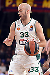 Turkish Airlines Euroleague 2018/2019. <br /> Regular Season-Round 18.<br /> FC Barcelona Lassa vs Panathinaikos Opap Athens: 79-68.<br /> Nick Calathes.