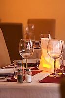 A table set for guests at the gastronomic Italian restaurant Fantozzi on Soder Stockholm, Sweden, Sverige, Europe