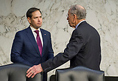 "United States Senators Marco Rubio (Republican of Florida), left, and Charles Grassley (Republican of Iowa), right, in conversation before the start of the US  Senate Committee on the Judiciary hearing testimony during ""an oversight hearing to examine the Parkland shooting and legislative proposals to improve school safety"" on Capitol Hill in Washington, DC on Wednesday, March 14, 2018.<br /> Credit: Ron Sachs / CNP"