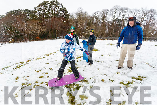 Colm, Looney, TJ O'Sullivan with Brian and Kevin Looney, all from Killarney, enjoying the Winter Wonderland in Killarney National Park, on Saturday last.