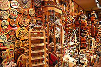 Indiginous crafts and souviniers in a shop, Juneau, Alaska, USA