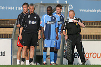Nathan Ashton of Wycombe Wanderers, former Charlton and Fulham player who represented England at U19 level gets ready to come onto the pitch as a second half substitute during Wycombe Wanderers vs Dagenham & Redbridge, Coca Cola League Division Two Football at Adams Park on 20th September 2008