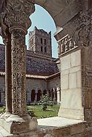 Europe/France/Languedoc-Roussillon/66/Pyrénées-Orientales/Elne: L'église paroissiale Sainte-Rulalie-et-Sainte-Julie (XIème-XVème) - Le cloître