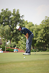 Dubai World Championship Golf. Earth Course,.Jumeirah Golf Estate, Dubai, U.A.E...Rory McIlroy clenches as he misses a birdy putt on the third green during the second round of the Dubai World Golf championship..Photo: Fran Caffrey/www.golffile.ie...