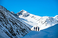 Ski touring to the Martin Busch Hut during the Öztal ski tour, Austria