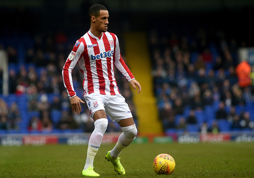 Stoke City's Thomas Ince<br /> <br /> Photographer Hannah Fountain/CameraSport<br /> <br /> The EFL Sky Bet Championship - Ipswich Town v Stoke City - Saturday 16th February 2019 - Portman Road - Ipswich<br /> <br /> World Copyright © 2019 CameraSport. All rights reserved. 43 Linden Ave. Countesthorpe. Leicester. England. LE8 5PG - Tel: +44 (0) 116 277 4147 - admin@camerasport.com - www.camerasport.com