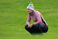 Anna Nordqvist of Team Europe on the 1st green during Day 2 Foursomes at the Solheim Cup 2019, Gleneagles Golf CLub, Auchterarder, Perthshire, Scotland. 14/09/2019.<br /> Picture Thos Caffrey / Golffile.ie<br /> <br /> All photo usage must carry mandatory copyright credit (© Golffile | Thos Caffrey)