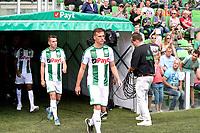 GRONINGEN - Voetbal, Open dag FC Groningen ,  seizoen 2017-2018, 06-08-2017,  FC Groningen speler Django Warmerdam en FC Groningen speler Oussama Idrissi