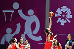 General view, <br /> AUGUST 15, 2018 - Basketball : Women's Qualification round match between Hong Kong -Japan at Gelora Bung Karno Basket Hall A during the 2018 Jakarta Palembang Asian Games in Jakarta, Indonesia. <br /> (Photo by MATSUO.K/AFLO SPORT)