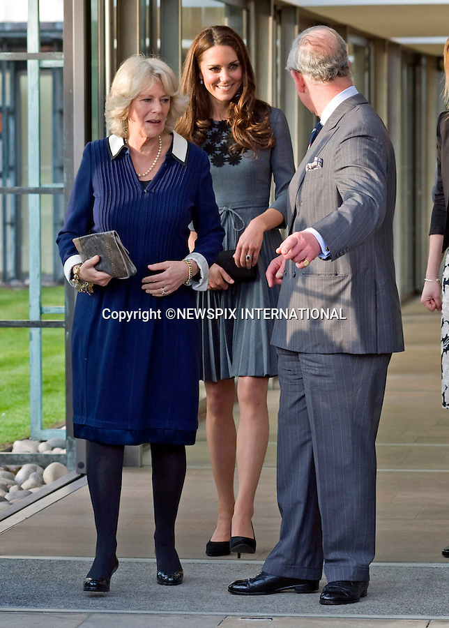 """KATE ACCOMPANIES PRINCE CHARLES AND CAMILLA.The Prince of Wales, President of The Princes Foundation for Children & the Arts, accompanied by The Duchess of Cornwall, introduced The Duchess of Cambridge to the work of one of His Royal Highnesss education charities, The Princes Foundation for Children and the Arts. Their Royal Highnesses met school children participating in Great Art Quest, a project run by The Princes Foundation for Children and the Arts at Dulwich Picture Gallery, London 15 March 2012.Mandatory Credit Photo: ©DIAS/NEWSPIX INTERNATIONAL..**ALL FEES PAYABLE TO: """"NEWSPIX INTERNATIONAL""""**..IMMEDIATE CONFIRMATION OF USAGE REQUIRED:.Newspix International, 31 Chinnery Hill, Bishop's Stortford, ENGLAND CM23 3PS.Tel:+441279 324672  ; Fax: +441279656877.Mobile:  07775681153.e-mail: info@newspixinternational.co.uk"""