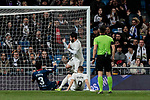 Real Madrid's Francisco Alarcon 'Isco' scores goal during La Liga match between Real Madrid and SD Huesca at Santiago Bernabeu Stadium in Madrid, Spain.March 31, 2019. (ALTERPHOTOS/A. Perez Meca)