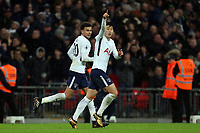 Son Heung-Min of Tottenham celebrates scoring the opening Spurs goal during Tottenham Hotspur vs West Ham United, Premier League Football at Wembley Stadium on 4th January 2018