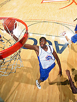 C.J. Barksdale handles the ball during the 2009 NBPA Top 100 Basketball Camp held Friday June 17- 20, 2009 in Charlottesville, VA. Photo/ Andrew Shurtleff
