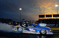 Sept. 28, 2012; Madison, IL, USA: NHRA pro stock driver Chris McGaha during qualifying for the Midwest Nationals at Gateway Motorsports Park. Mandatory Credit: Mark J. Rebilas-