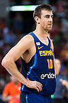 Spain's basketball player Victor Claver during the  match of the preparation for the Rio Olympic Game at Madrid Arena. July 23, 2016. (ALTERPHOTOS/BorjaB.Hojas)