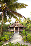 INDONESIA, Mentawai Islands, Kandui Surf Resort, a guest cabin facade