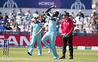 Jofra Archer (England) in action during England vs New Zealand, ICC World Cup Cricket at The Riverside Ground on 3rd July 2019