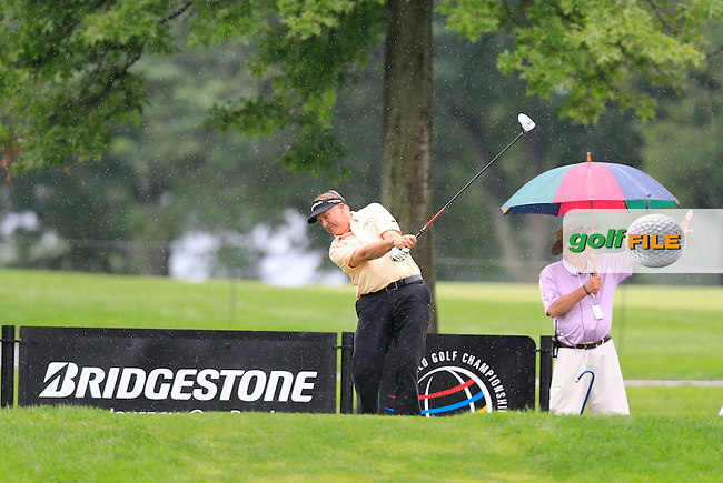 Ken Duke (USA) tees off the 9th tee during Friday's Round 1 of the 2013 Bridgestone Invitational WGC tournament held at the Firestone Country Club, Akron, Ohio. 2nd August 2013.<br /> Picture: Eoin Clarke www.golffile.ie
