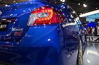 SAO PAULO, SP - 05.11.2014 - SAL&Atilde;O DO AUTOM&Oacute;VEL - Subaru apresenta suas vers&otilde;es do Impreza, vers&atilde;o esportiva VRX STI WRX n&atilde;o esportiva na tarde desta quarta-feira (5) em S&atilde;o Paulo. O evento receber&aacute; o p&uacute;blico at&eacute; o dia 9 de novembro.<br /> <br /> <br /> (Foto: Fabricio Bomjardim / Brazil Photo Press)