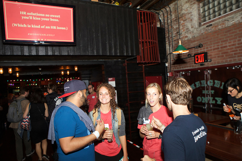 New York, NY - September 20, 2016:  The JustWorks End of Summer Party for customers and clients at Brooklyn Bowl in Williamsburg. <br /> <br /> CREDIT: Clay Williams.<br /> <br /> &copy; Clay Williams / claywilliamsphoto.com