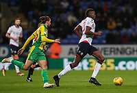 Bolton Wanderers' Sammy Ameobi breaks away from  West Bromwich Albion's Jay Rodriguez<br /> <br /> Photographer Andrew Kearns/CameraSport<br /> <br /> The EFL Sky Bet Championship - Bolton Wanderers v West Bromwich Albion - Monday 21st January 2019 - University of Bolton Stadium - Bolton<br /> <br /> World Copyright © 2019 CameraSport. All rights reserved. 43 Linden Ave. Countesthorpe. Leicester. England. LE8 5PG - Tel: +44 (0) 116 277 4147 - admin@camerasport.com - www.camerasport.com