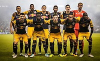 Kansas City, KS - Wednesday September 20, 2017: New York Red Bulls starting eleven during the 2017 U.S. Open Cup Final Championship game between Sporting Kansas City and the New York Red Bulls at Children's Mercy Park.