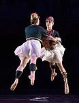 Les Ballets Trockadero de Monte Carlo all -male comedy ballet company performing La Trovatiara Pas de Cinq 12.09.2018 at The Peacock Theatre London UK<br /> Roberto Vega &amp; Kevin Garcia