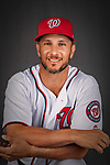 22 February 2019: Washington Nationals catcher Yan Gomes poses for his Photo Day portrait at the Ballpark of the Palm Beaches in West Palm Beach, Florida. Mandatory Credit: Ed Wolfstein Photo *** RAW (NEF) Image File Available ***