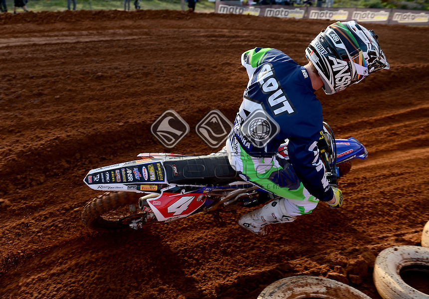 Luke Clout / Yamaha<br /> MXN Round 4 - Murray Bridge / MX2<br /> 2014 Monster Energy MX Nationals<br /> Australian Motocross Championship<br /> Murray Bridge SA 18 May 2014<br /> &copy; Sport the library / Jeff Crow