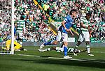 Celtic v St Johnstone...29.08.15  SPFL   Celtic Park<br /> Graham Cummins celebrates after Dedrick Boyata's own goal<br /> Picture by Graeme Hart.<br /> Copyright Perthshire Picture Agency<br /> Tel: 01738 623350  Mobile: 07990 594431
