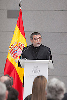 The 2013 Velazquez Visual Arts Award winner Jaume Plensa during the ceremony at Prado Museum in Madrid, Spain. November 17, 2014. (ALTERPHOTOS/Victor Blanco)