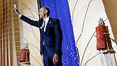 US President Barack Obama waves before delivering remarks at Adas Israel Congregation in celebration of Jewish American Heritage Month, on Friday May 22, 2015, in Washington, DC.<br /> Credit: Aude Guerrucci / Pool via CNP