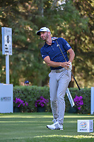Dustin Johnson (USA) watches his tee shot on 8 during round 1 of the World Golf Championships, Mexico, Club De Golf Chapultepec, Mexico City, Mexico. 2/21/2019.<br /> Picture: Golffile | Ken Murray<br /> <br /> <br /> All photo usage must carry mandatory copyright credit (© Golffile | Ken Murray)