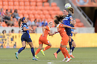Houston, TX - Sunday June 19, 2016: Heather O'Reilly during a regular season National Women's Soccer League (NWSL) match between the Houston Dash and FC Kansas City at BBVA Compass Stadium.