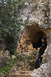 Israel, Upper Galilee, Namer Cave in Wadi Namer