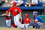 10 March 2012: Washington Nationals' infielder Anthony Rendon in action against the New York Mets at Space Coast Stadium in Viera, Florida. The Nationals defeated the Mets 8-2 in Grapefruit League play. Mandatory Credit: Ed Wolfstein Photo