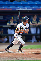 Canisius College Golden Griffins right fielder John Conti (23) at bat during the second game of a doubleheader against the Michigan Wolverines on February 20, 2016 at Tradition Field in St. Lucie, Florida.  Michigan defeated Canisius 3-0.  (Mike Janes/Four Seam Images)